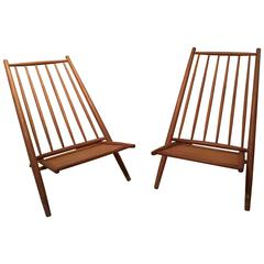 Pair of Congo Chairs by Alf Svensson, Haga Fors, Sweden, 1954