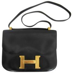 Black Hermes Constance Bag