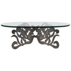 Sculptural Metal Coffee Table
