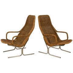 Pair of Mid-Century Modern Lounge Chairs Model 514 C by Dirk Van Sliedregt
