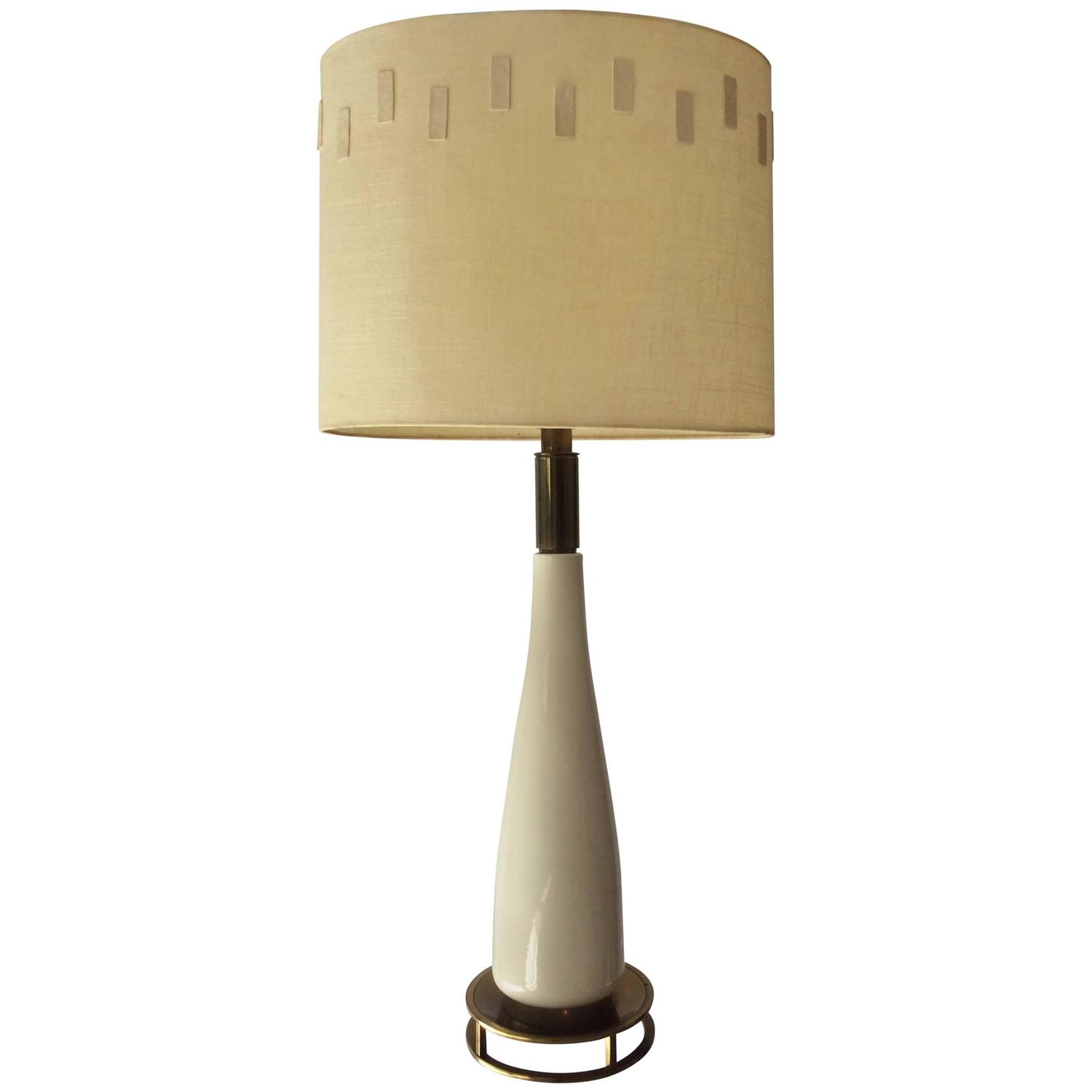 large mid century modern ceramic stiffel table lamp for sale at. Black Bedroom Furniture Sets. Home Design Ideas