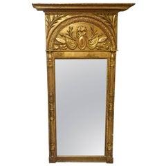 Gustavian Giltwood Mirror, Stockholm around 1800