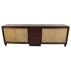 Mid-Century Marble Top Sideboard after Emile-Jacques Ruhlmann