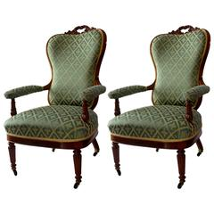 Pair of Louis-Philippe Armchairs, 19th Century