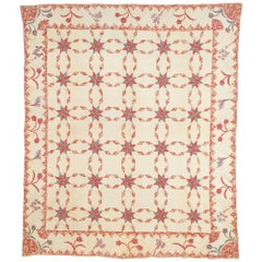 Touching Stars Quilt with Trapunto