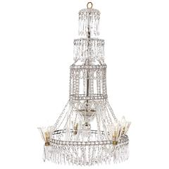 1910 Italian Glass Chandelier