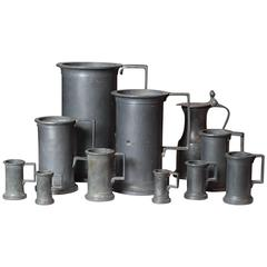 Collection of Pewter Vessels