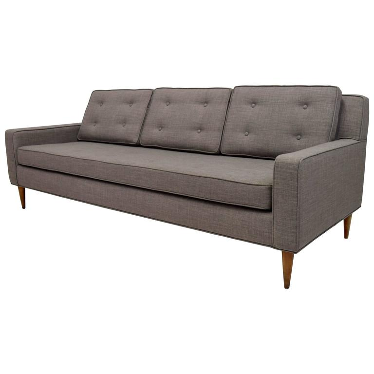 Mid-Century Button Tufted Sofa in Paul McCobb Style
