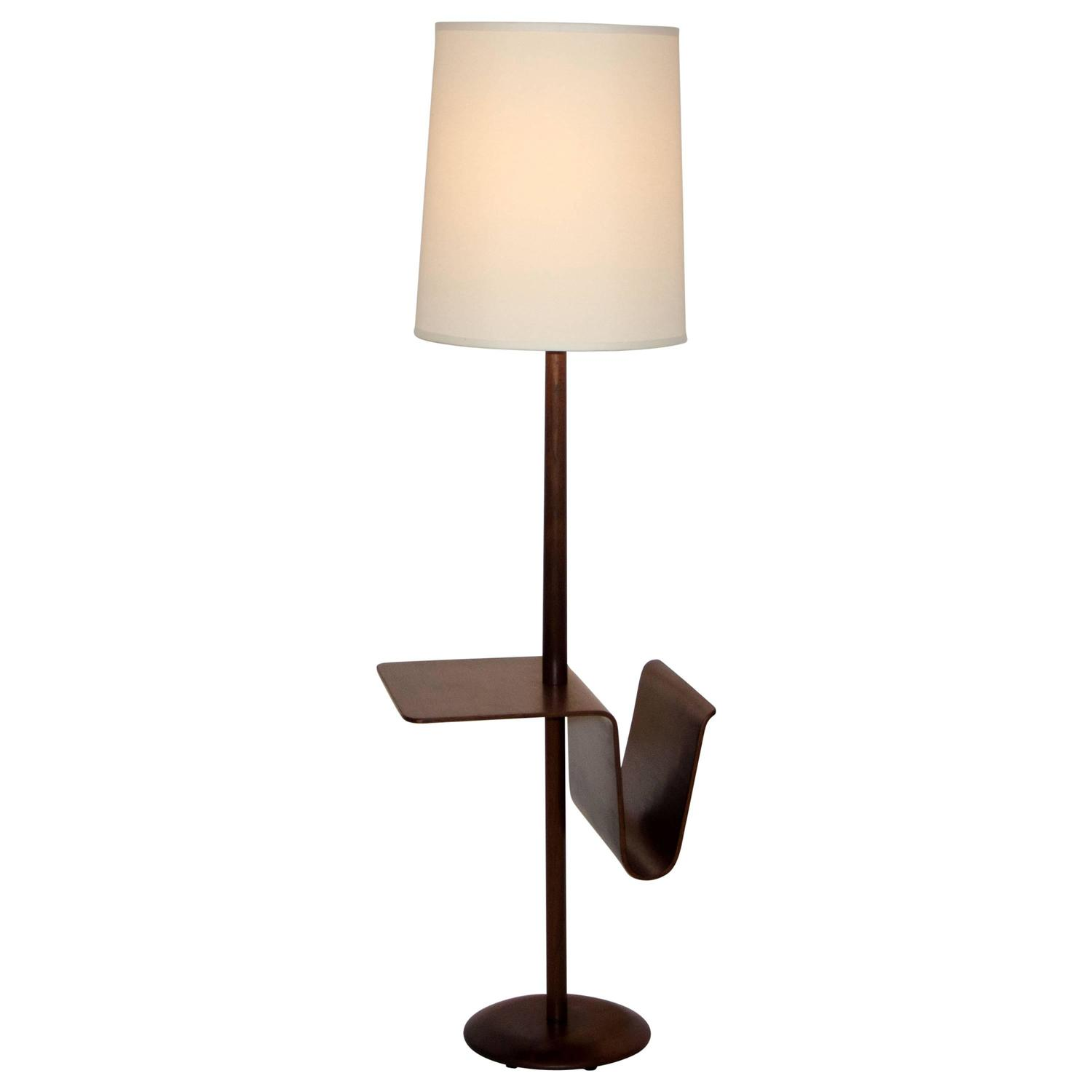 mid century table lamps mid century walnut floor lamp with bent ply table and 11433