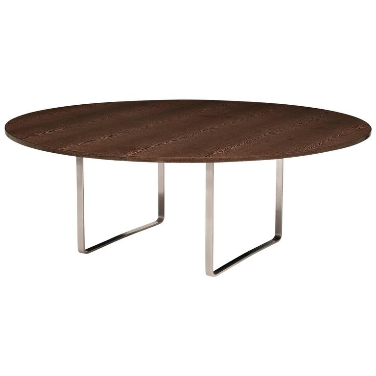 "Hans Wegner's Monumental Circular Dining Table, the ""JH 809"", in Wengé Wood For Sale"