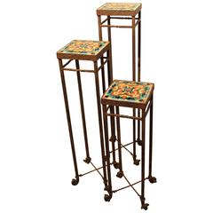 Set of Three Bushere and Son Stands