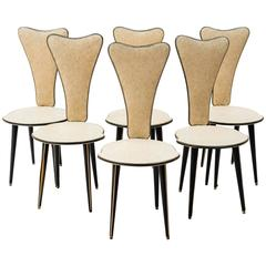 Set of Six Chairs Designed by Umberto Mascagni 1950s