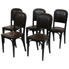 Four Vienna Secession Side Chairs by Gustav Siegel, J. & J. Kohn