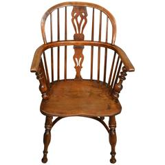 Mid-19th Century Elm, Ash and Yew Wood Child's Windsor Chair