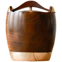 Rosewood/Silver Humidor for Pipe Tobacco by Jens Quistgaard for Richard Nissen