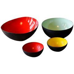 Four Beautiful Krenit Bowls, Herbert Krenchel