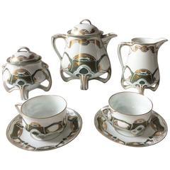 Jugendstil Porcelain Set of Seven Pieces by Hermann Ohme