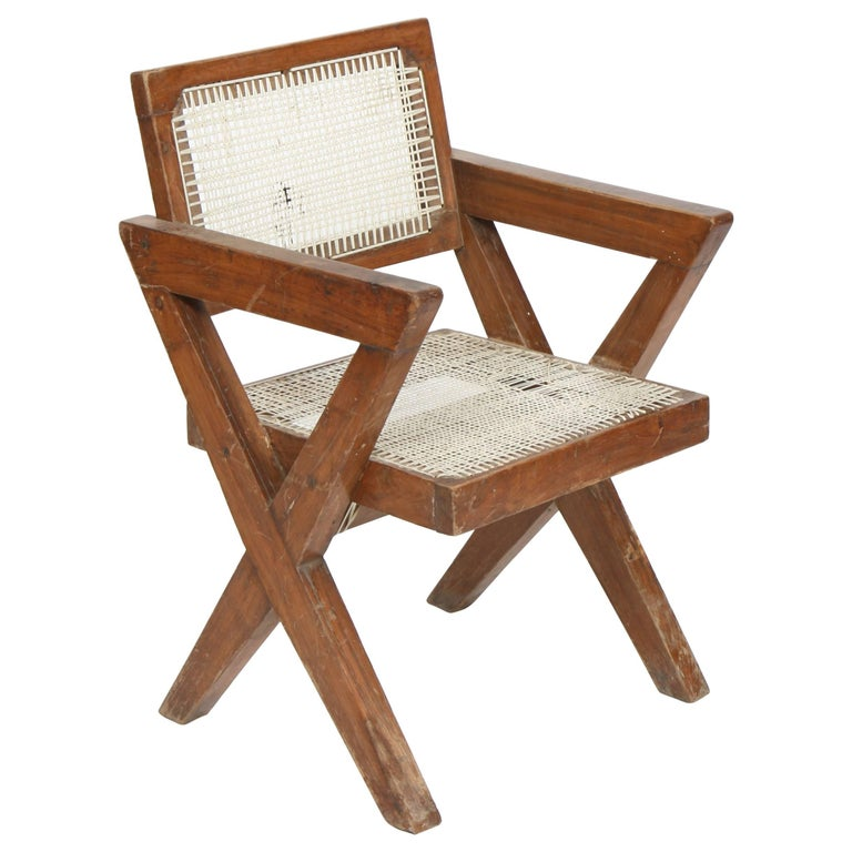 Exceptional Chair by Pierre Jeanneret For Sale