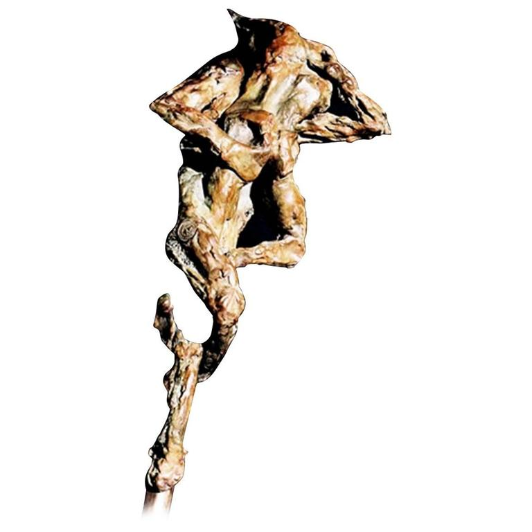 "Bronze Sculpture ""Embrace"" by the Artist Emmée Parizot"