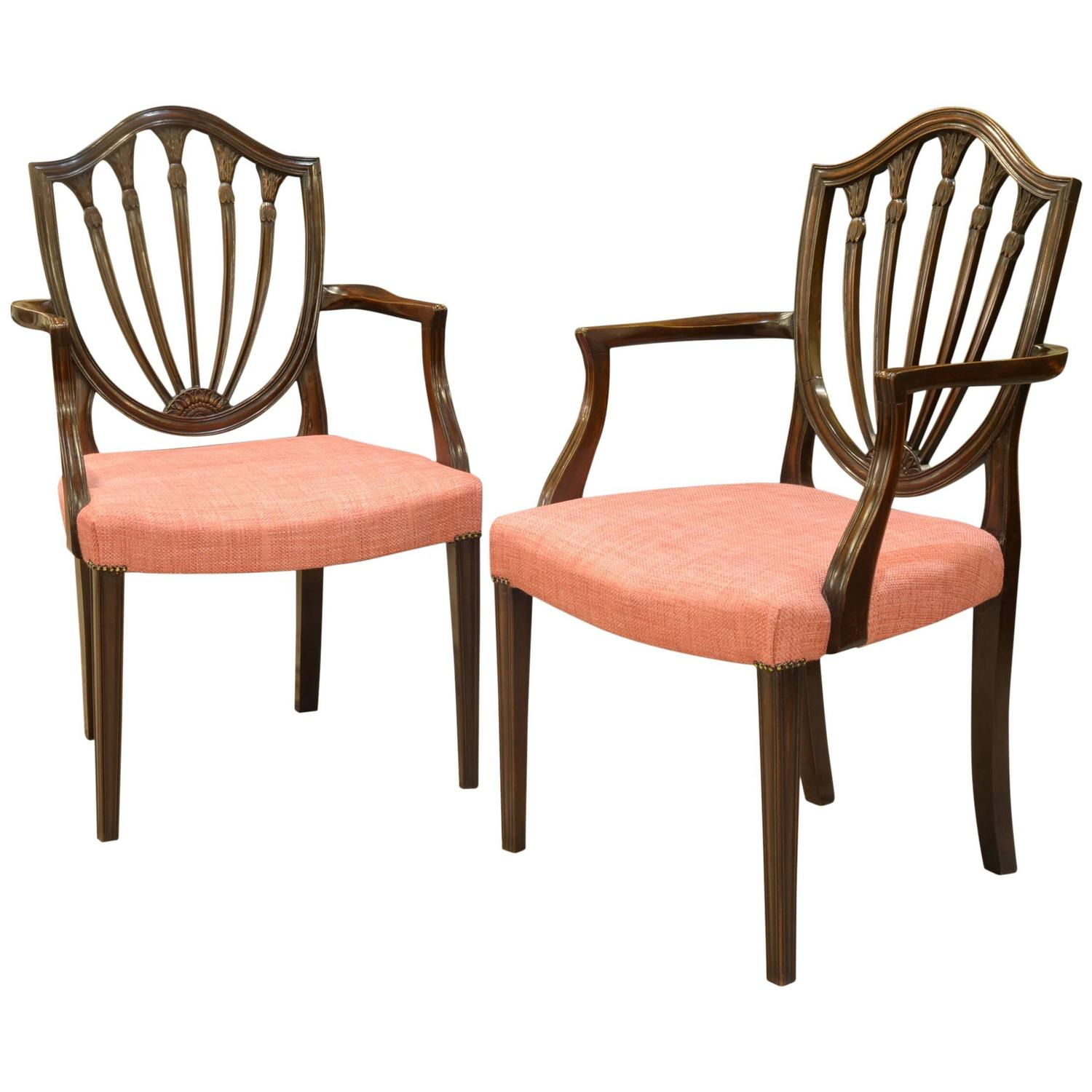 pair of hepplewhite style carver chairs at 1stdibs