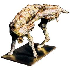 "Bronze Sculpture ""the Dog"" by the Artist Emmée Parizot"