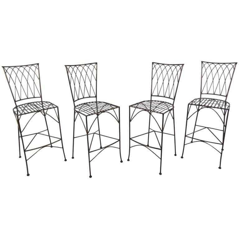 Set of Four Modern Bar Stools