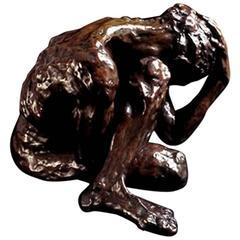 "Bronze Sculpture ""Anguish"" by the Artist Emmée Parizot"
