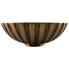 Large Tinos Art Deco Bowl in Bronze