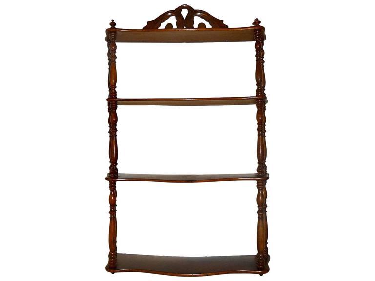 19th Century French Walnut Shelf