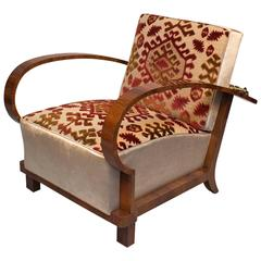 Art Deco reclining armchair
