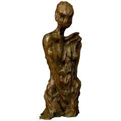 "Bronze Sculpture ""In Vain"" by the Artist Emmée Parizot"