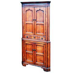 Antique Georgian Oak Double Corner Cupboard