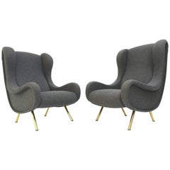 'Senior' Chairs by Marco Zanuso, 1951,very rare early examples with wood frames