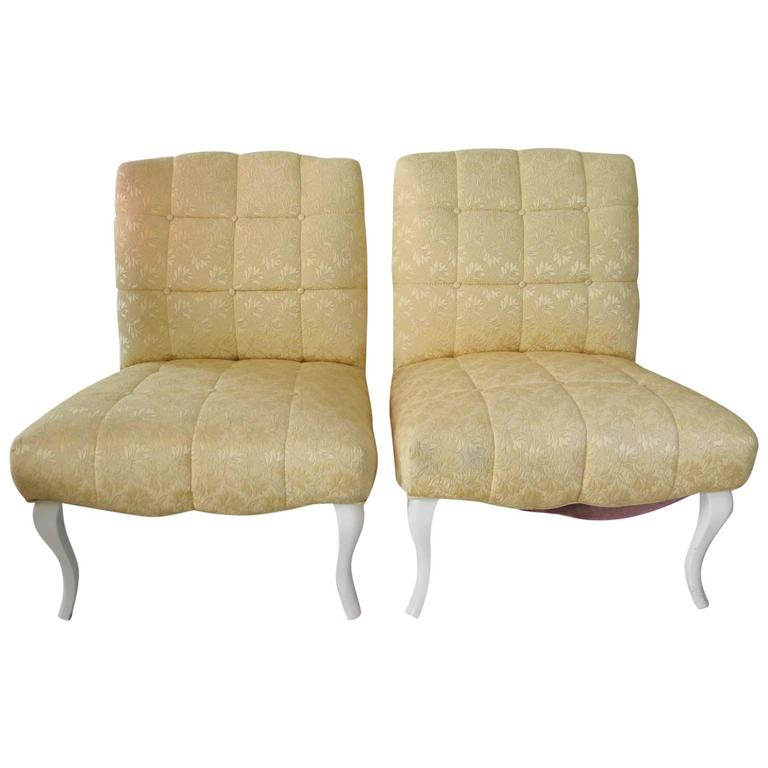 Pair of Classic Slipper Chairs by Kroehler