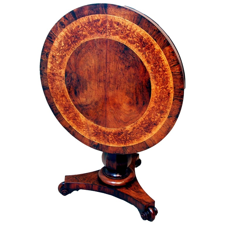 Antique 19th Century Rosewood and Marquetry Centre Table