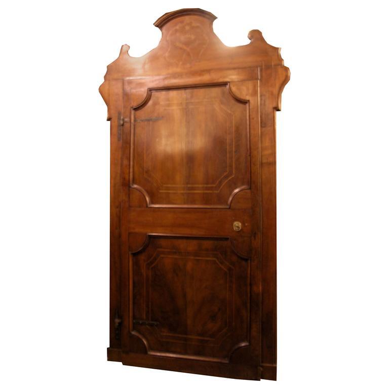 Antique Walnut Door with Original Frame