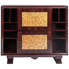 Art Deco secrétaire bookcase, and bar