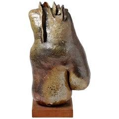 Stoneware Sculpture by Jeanne Grandpierre, La Borne 1970-1980