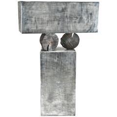 """Rare Cast Aluminum """"Ortofrutta"""" Cabinet by Andrea Salvetti for Dilmos Edizioni"""