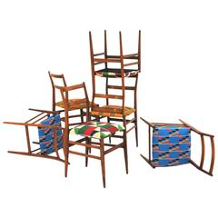 Set of 12 Leggera Chair Designed by Gio Ponti for Cassina