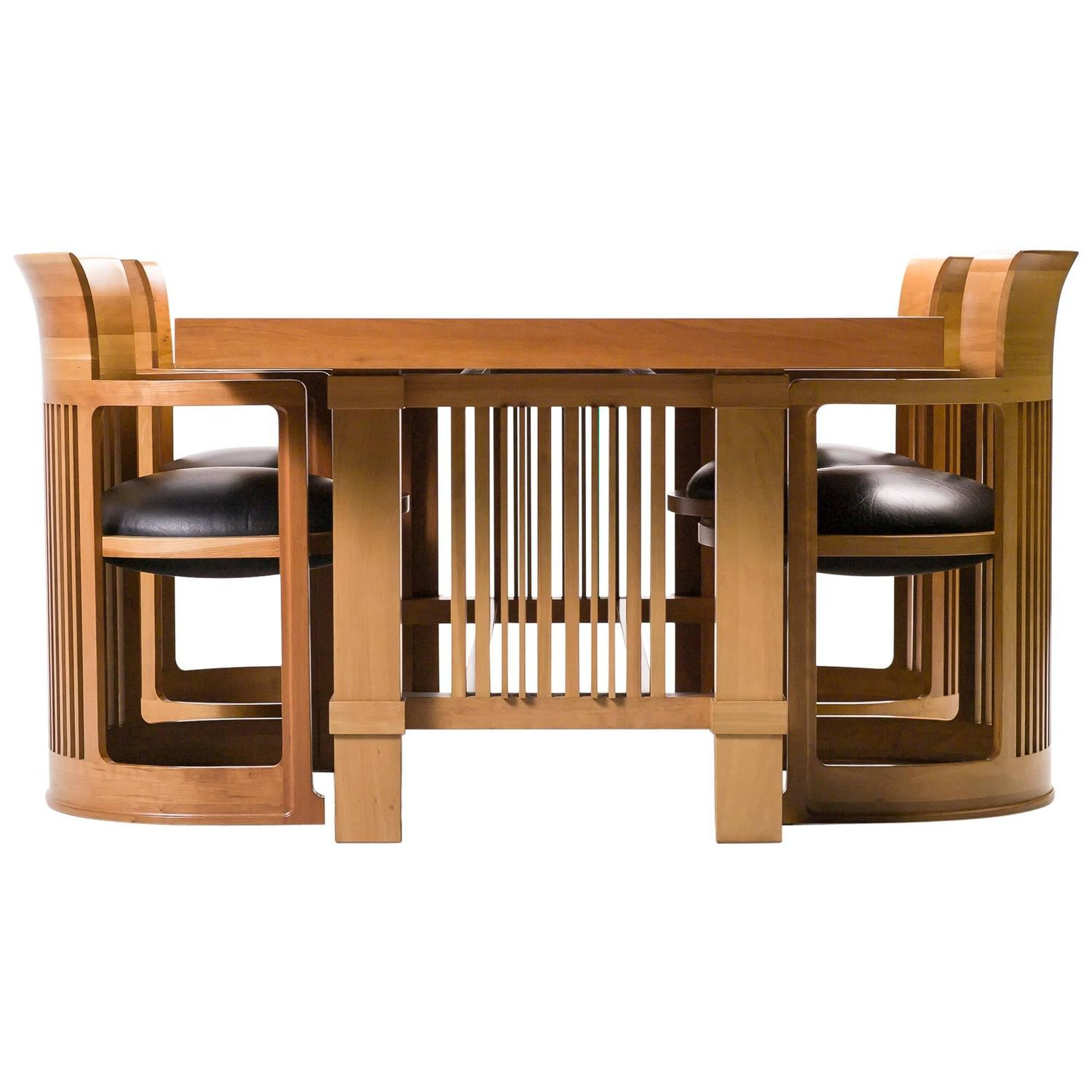 American Signature Dining Room Sets Cassina Taliesin Dining Table And Barrel Chairs Designed