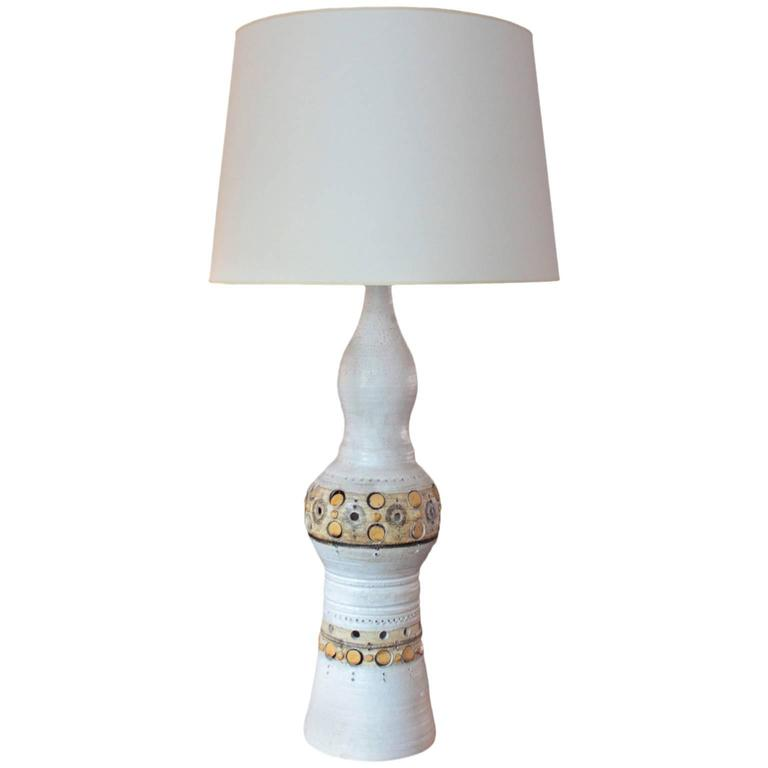 Oversized French Accolay Pottery Lamp