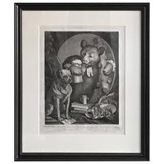 William Hogarth Bruiser Bear with Mug of Beer Print
