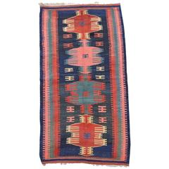Very Colorful and Graphic Antique Bidjar Kilim