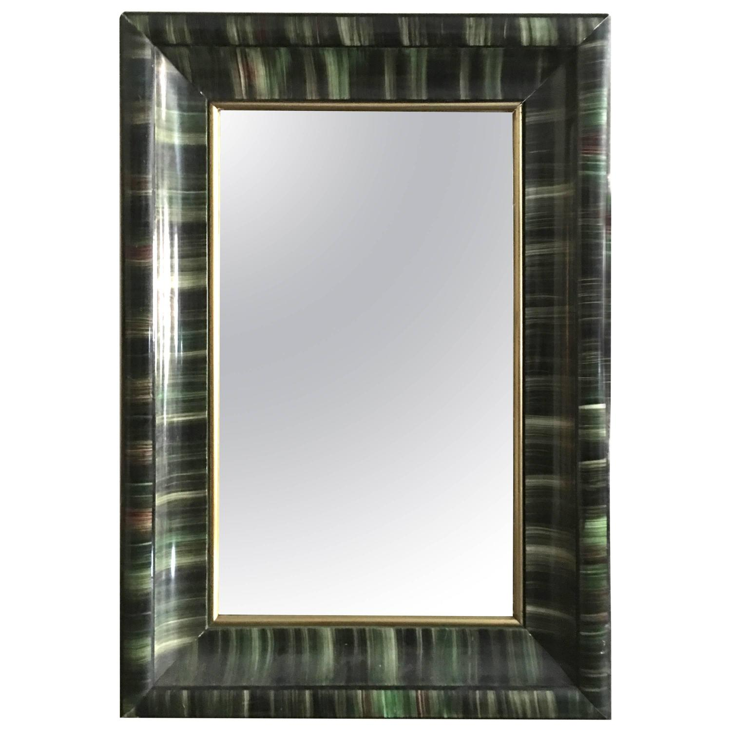 unusual 19th century american green painted framed mirror unusual mussel shell mirror for sale at 1stdibs