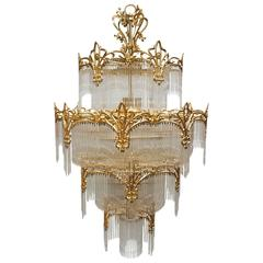 Very Huge Murano Glass Chandelier