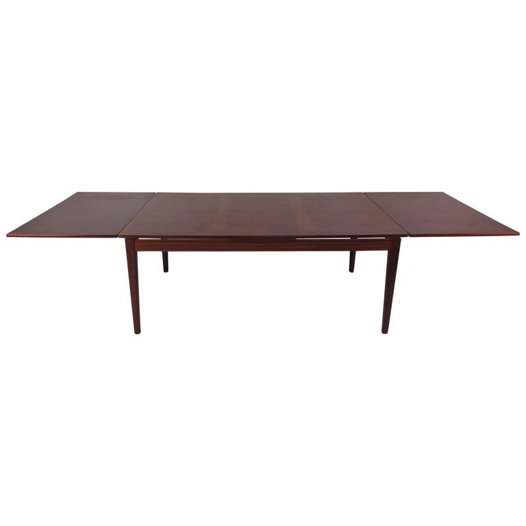 Vintage Rosewood Draw-Leaf Dining Table