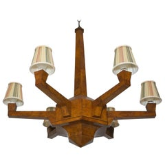 Art Deco Walnut Chandelier
