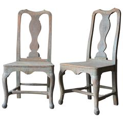 Pair of 18th Century Swedish Rococo Chairs