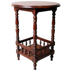 British Colonial Two-Tiered Occasional Table